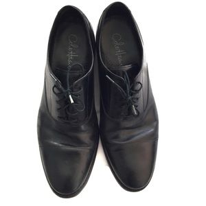 Cole Haan men's black dress shoes rounded toe